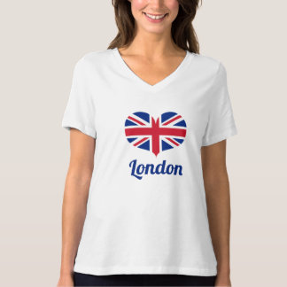 Love London | Heart Shaped UK Flag / Union Jack T-Shirt