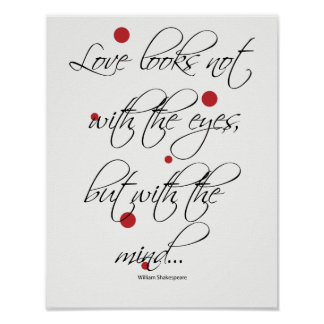Love Looks Not with the Eyes Poster