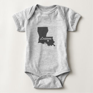 Love Louisiana Love Baton Rouge Baby All In One Baby Bodysuit