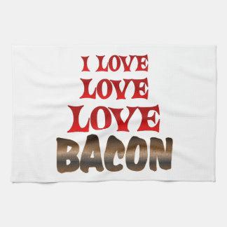 Love Love BACON Tea Towel
