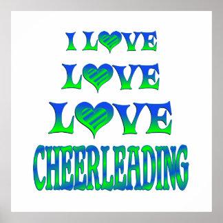 Love Love Cheerleading Poster