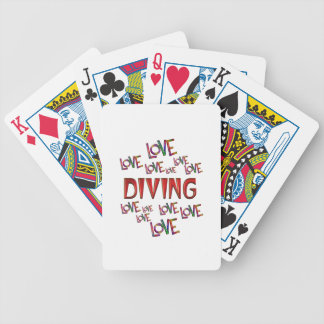 Love Love Diving Bicycle Playing Cards