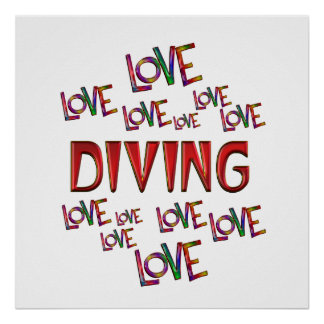 Love Love Diving Poster