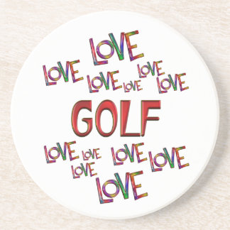 Love Love Golf Beverage Coasters