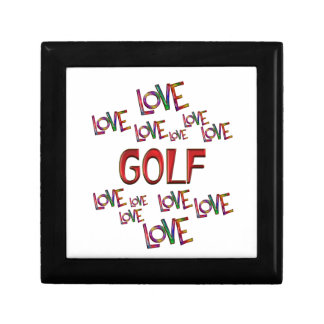 Love Love Golf Small Square Gift Box
