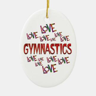 Love Love Gymnastics Ceramic Oval Decoration