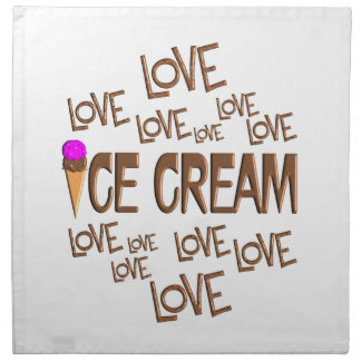Love Love Ice Cream Napkin