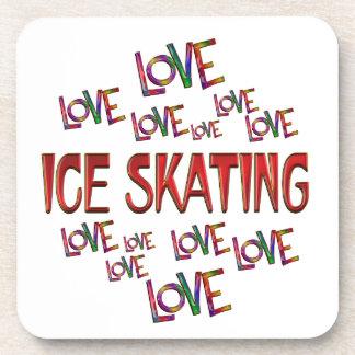 Love Love Ice Skating Drink Coaster