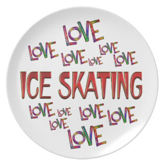Love Love Ice Skating Party Plate