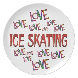 Love Love Ice Skating Plate