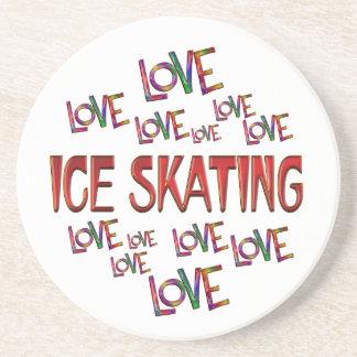 Love Love Ice Skating Sandstone Coaster