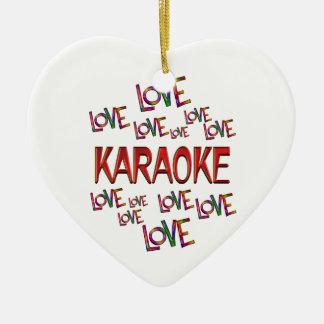 Love Love Karaoke Ceramic Ornament