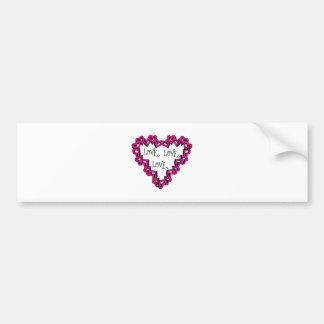 Love Love Love Bumper Sticker