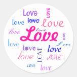 Love, love, love... classic round sticker