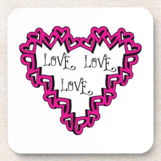 Love Love Love Beverage Coaster