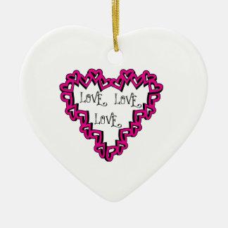 Love Love Love Christmas Ornament