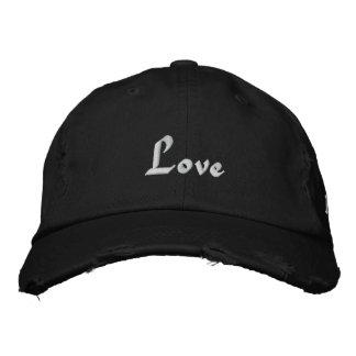 Love, Love, Love Embroidered Baseball Cap