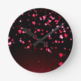 LOVE LOVE LOVE - round (medium) wall clock