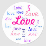 Love, love, love... round sticker