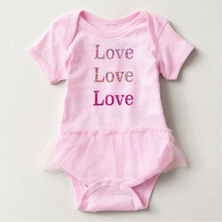 Love Love Love Tutu Baby Bodysuit