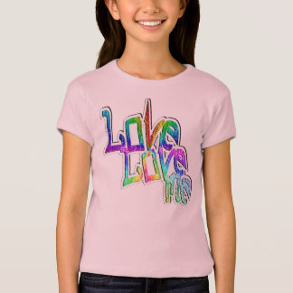 Love Love Me - Girls Baby Doll (Fitted) T-Shirt