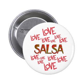 Love Love Salsa 6 Cm Round Badge