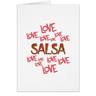 Love Love Salsa Card