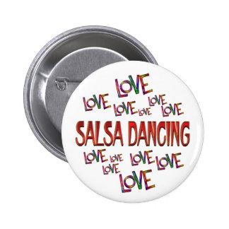 Love Love Salsa Dancing 6 Cm Round Badge