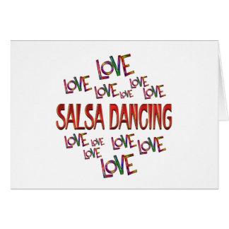 Love Love Salsa Dancing Card