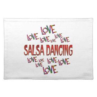 Love Love Salsa Dancing Placemat
