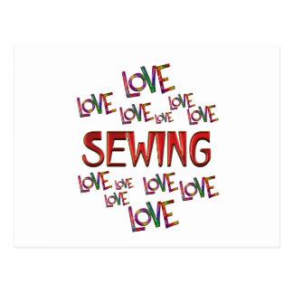 Love Love Sewing Postcard