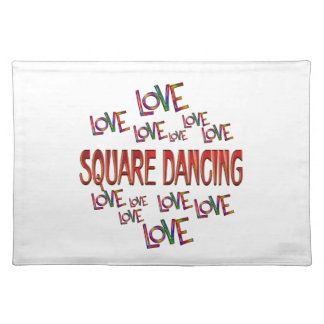 Love Love Square Dancing Placemat