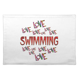 Love Love Swimming Placemat