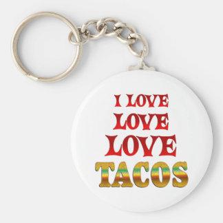 Love Love Tacos Keychain