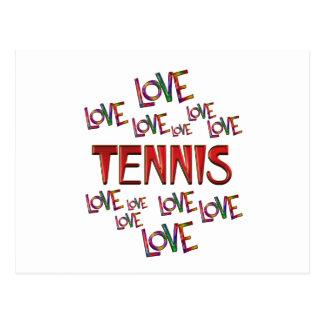 Love Love Tennis Postcard