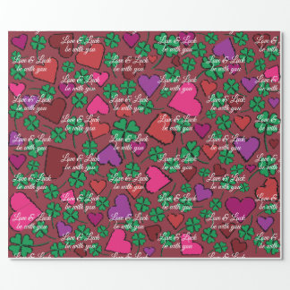 Love & luck be with you. wrapping paper