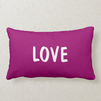 Love Lumbar Pillow - Purple Grape / Magenta