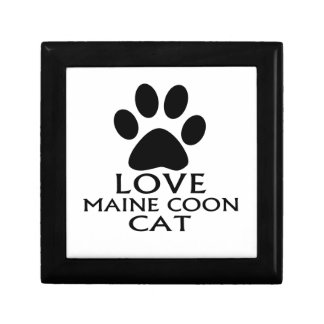 LOVE MAINE COON CAT DESIGNS GIFT BOX
