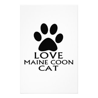LOVE MAINE COON CAT DESIGNS STATIONERY