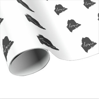 Love Maine Wrapping Paper