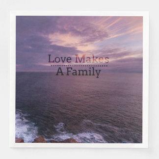 Love Makes a Family Adoption - Foster Care Disposable Napkin