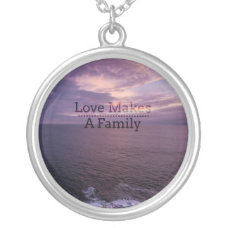 Love Makes a Family Adoption - Foster Care Silver Plated Necklace