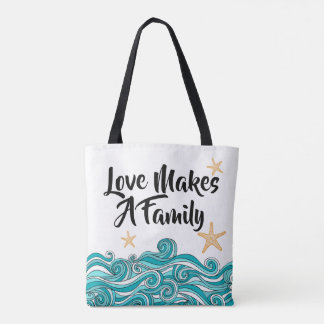Love Makes a Family Adoption - Starfish Story Tote Bag