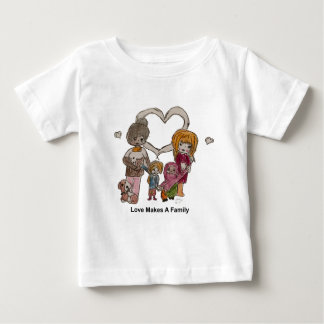 Love Makes a Family by Ainsley Baby T-Shirt