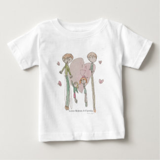 Love Makes a Family by Annika Baby T-Shirt