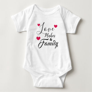 Love Makes a Family - Foster Care Adoption Baby Bodysuit