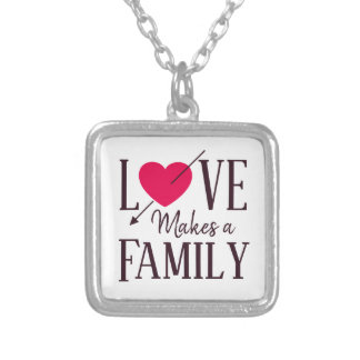 Love Makes a Family - Foster Care Adoption Silver Plated Necklace
