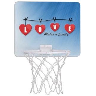 Love Makes a Family - Hearts Mini Basketball Hoop