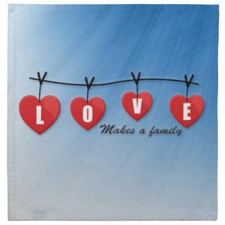 Love Makes a Family - Hearts Napkin