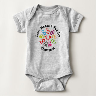 Love Makes a Family - Parenting Adoption Foster Baby Bodysuit
